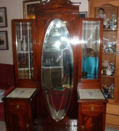 Mueble recibidor antiguo coleccionismo portal para Muebles antiguos malaga
