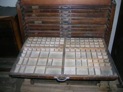 Mueble de imprenta coleccionismo portal para for Muebles para colecciones